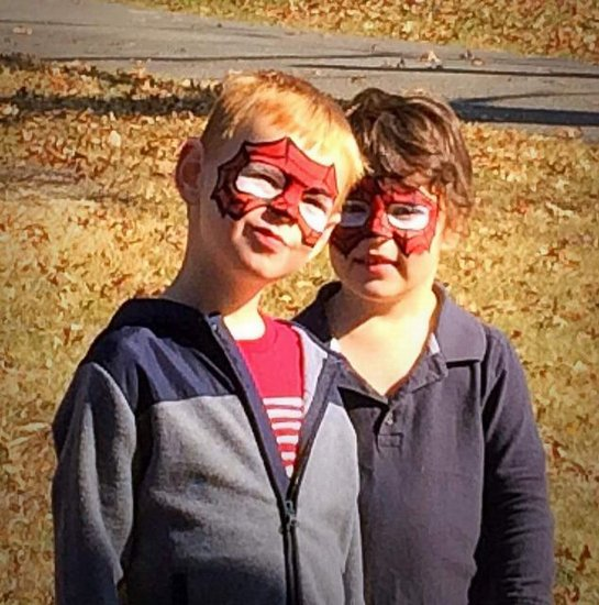 Awesome face painting done by Mrs. April Odom.