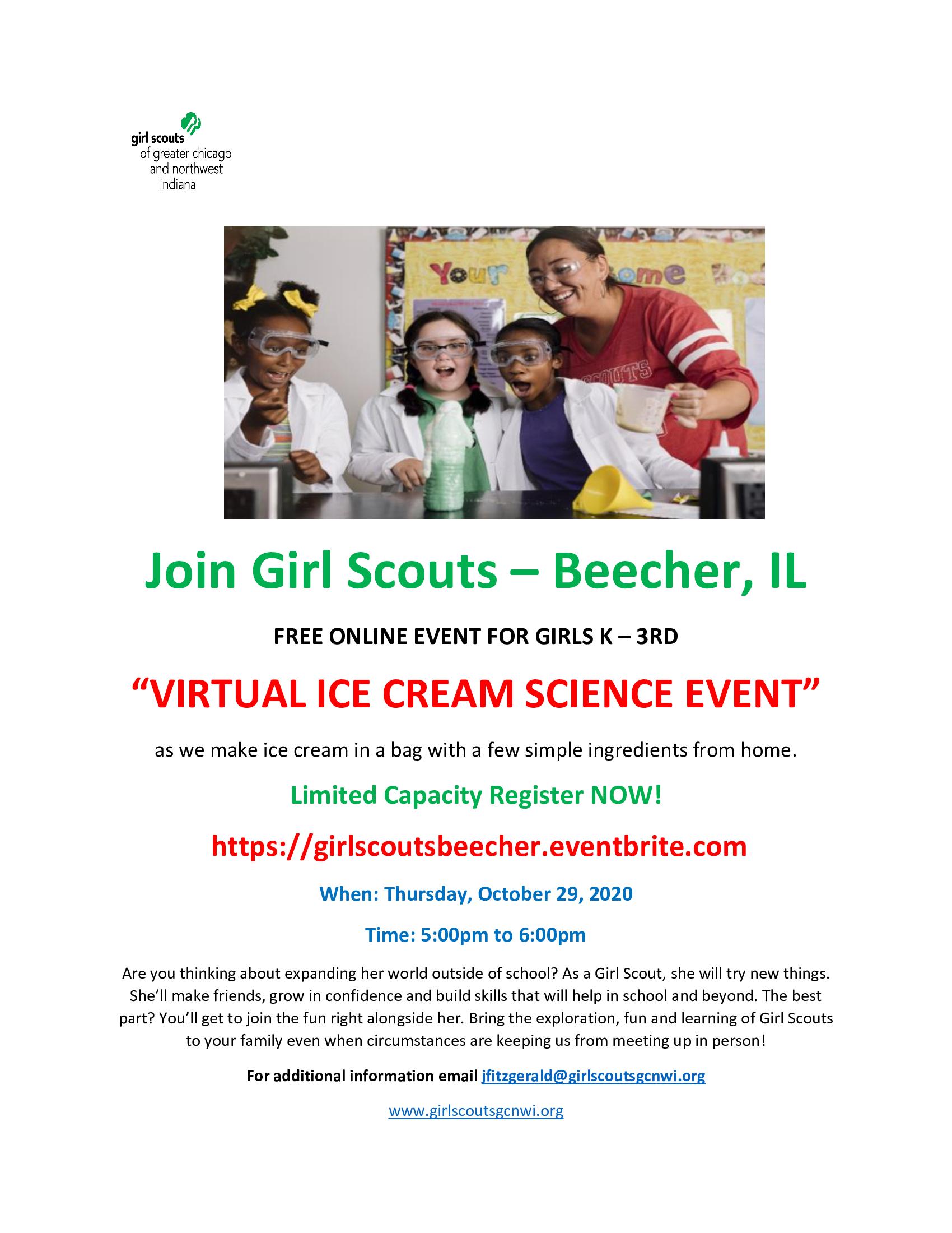 Girl Scouts Ice Cream Event