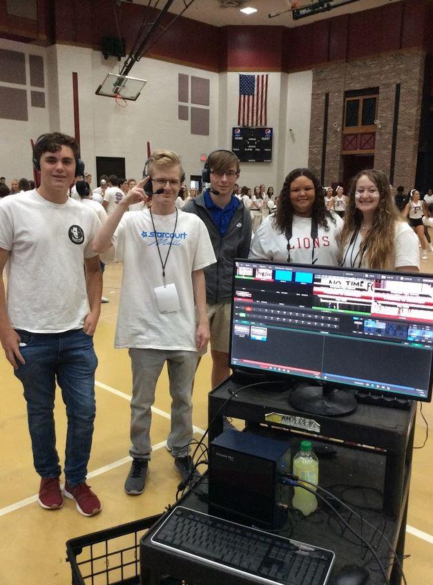 Pep Rally Broadcast Crew