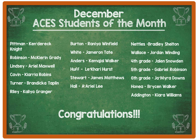 ACES Students of the Month