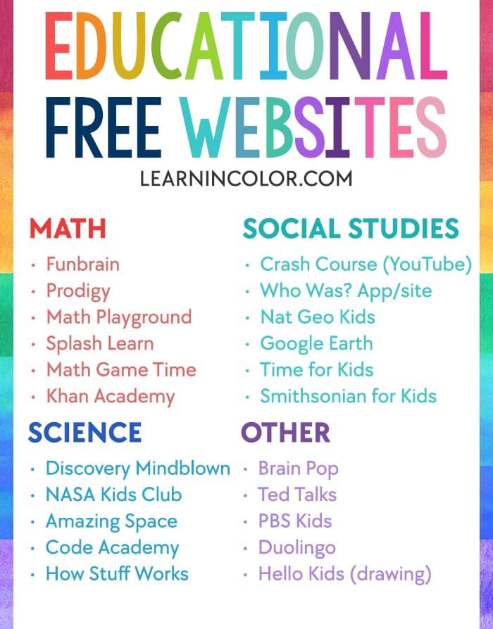 MORE Free Websites