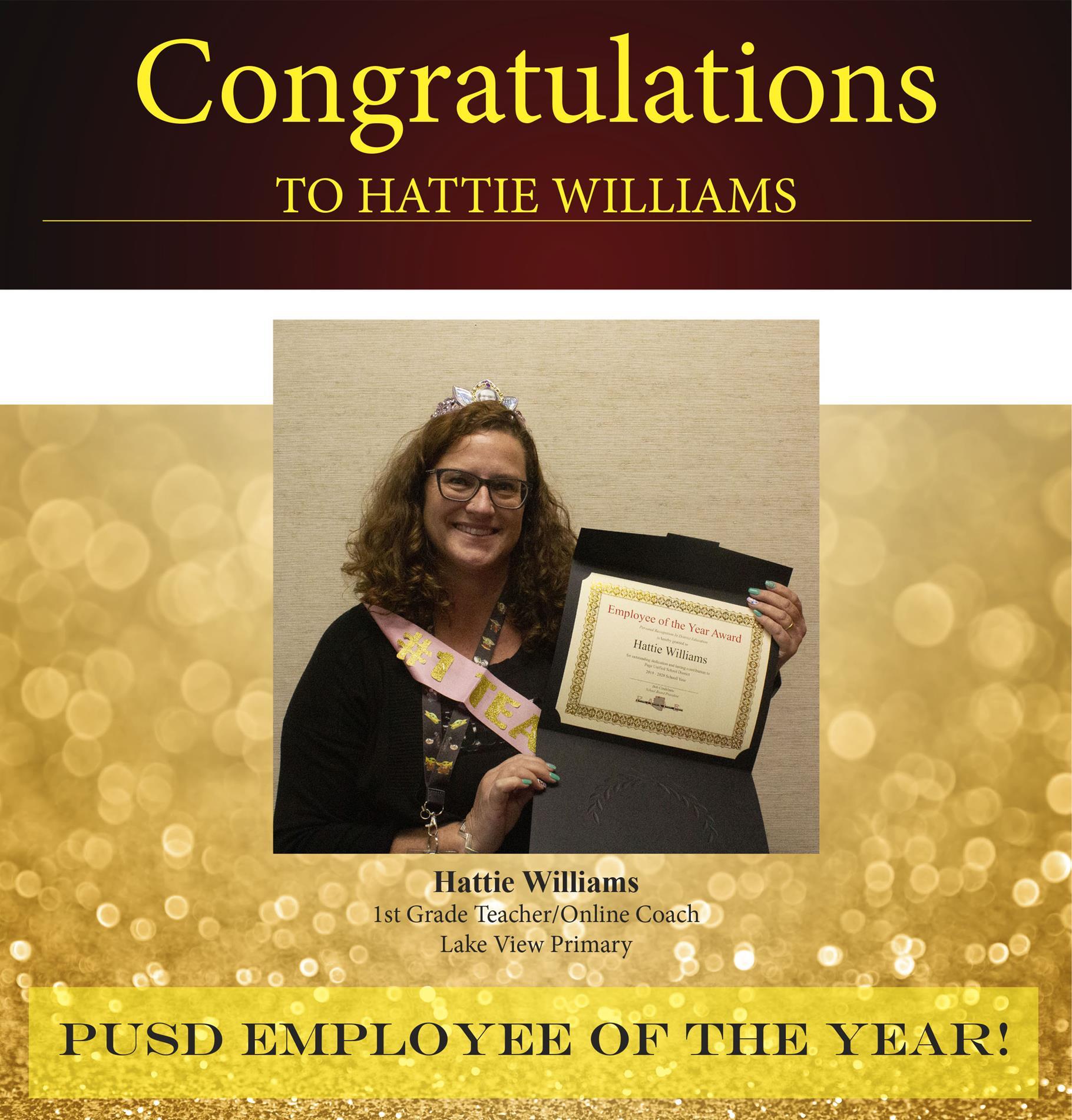 Hattie Wiliams Employee of the Year