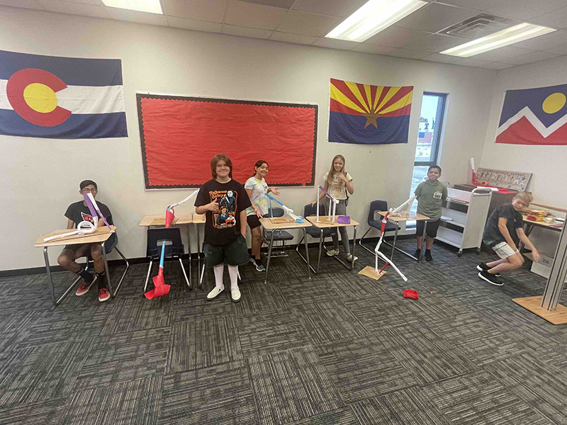 students display their STEM Academy projects