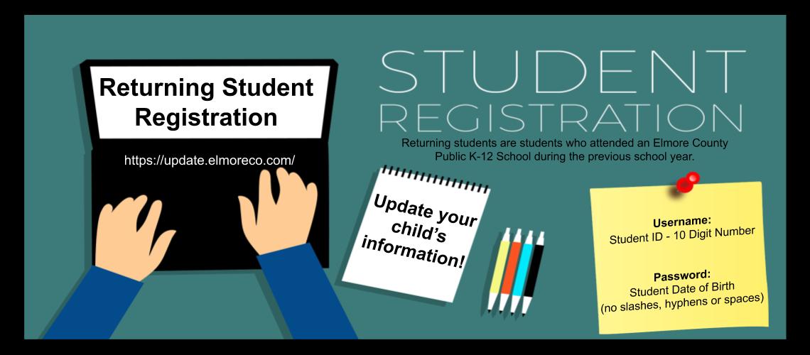 Registration: Update Student Information Image