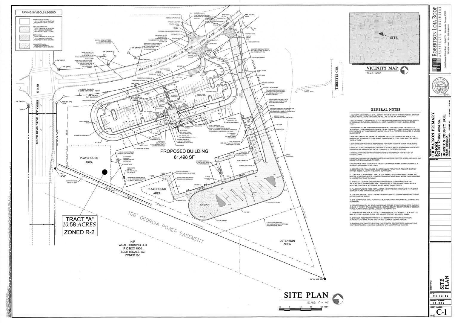 C.B. Watson Elementary Site Plan