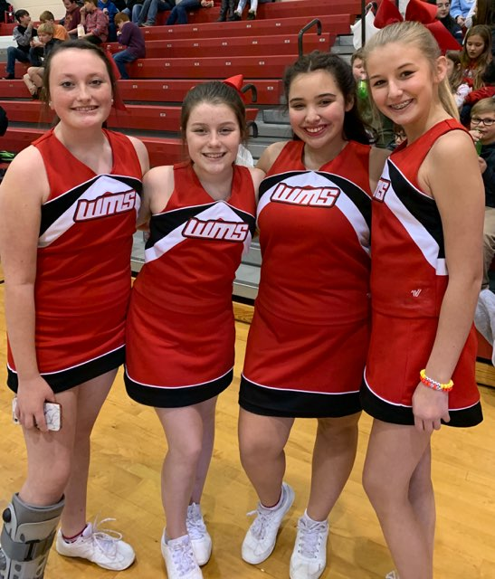 Joy, Maddie, Emma & Makenzie are ready to cheer on the Tigers!