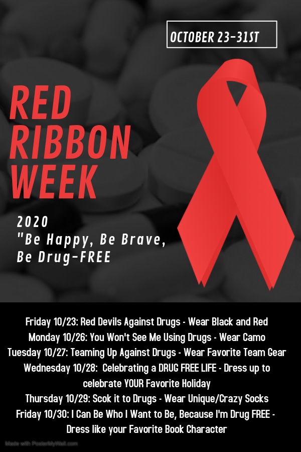 Drug Free Week flyer