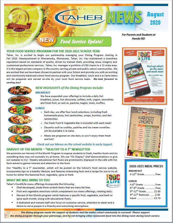 Taher Newsletter Aug 2020