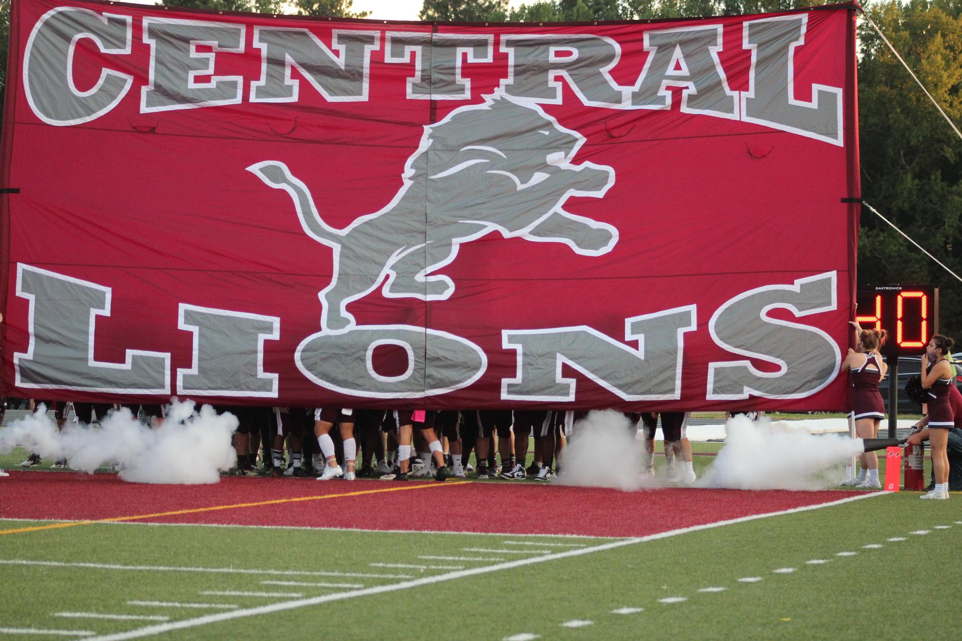 Lions take the field.