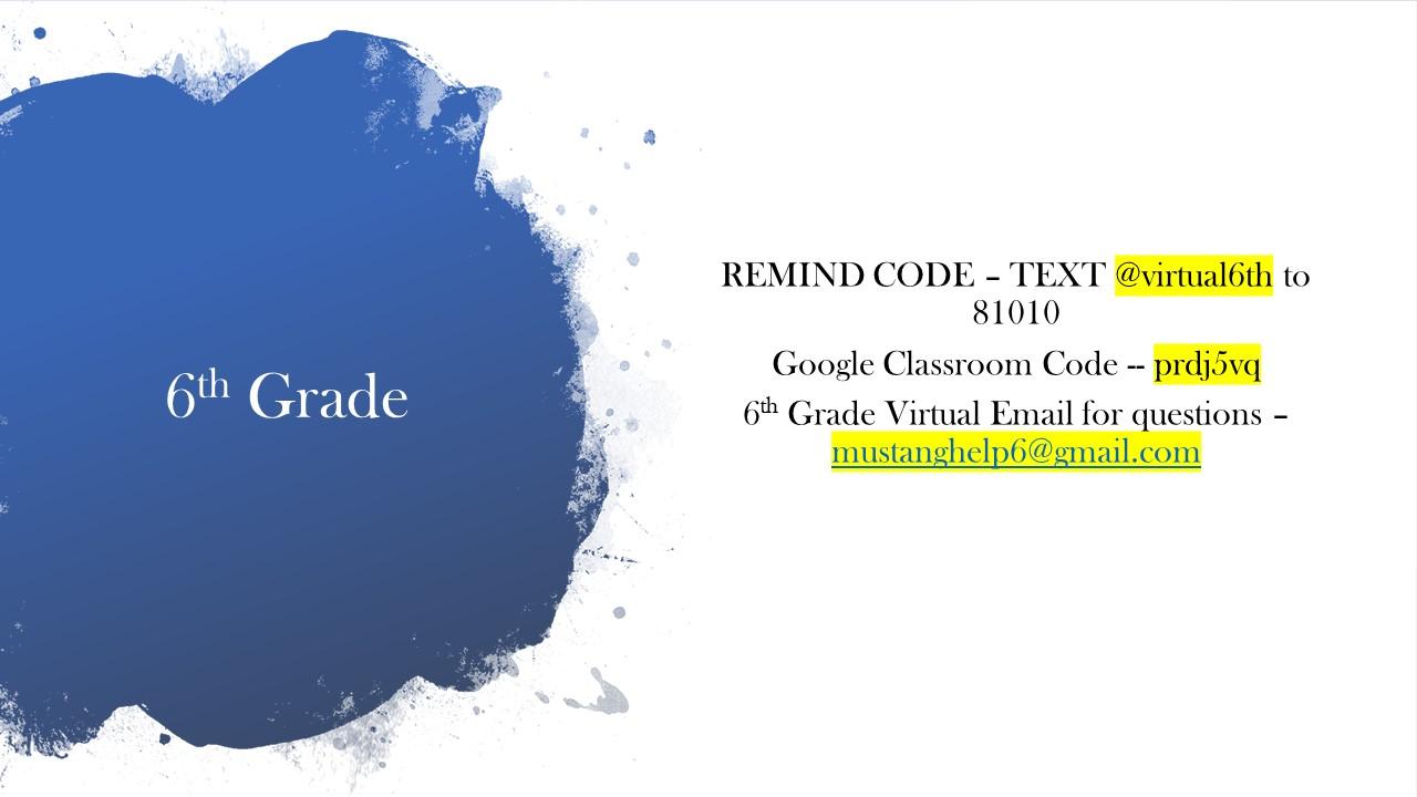 6th Grade Virtual Teacher