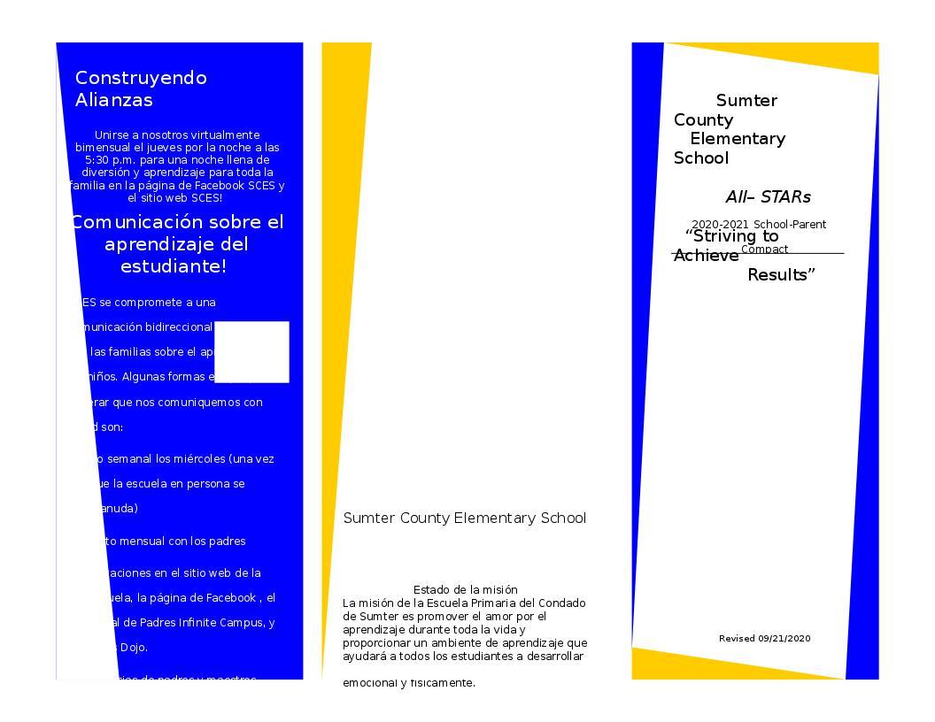 School Parent Contract - Spanish