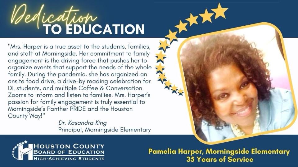Pamelia Harper 35 years of service