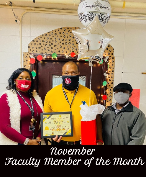 November Teacher and Faculty Member of the Month