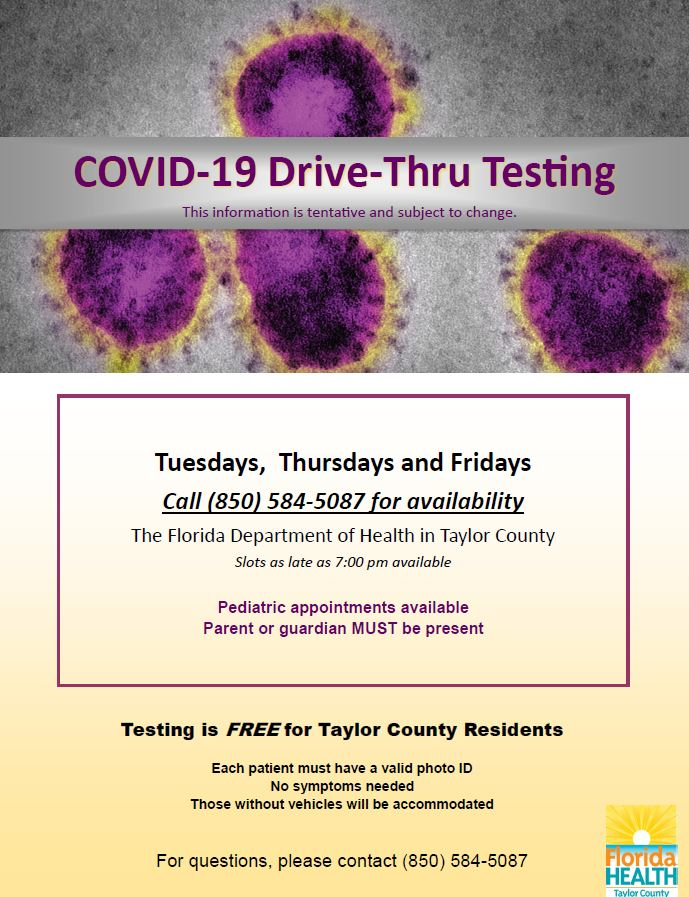 COVID 19 Testing Dates