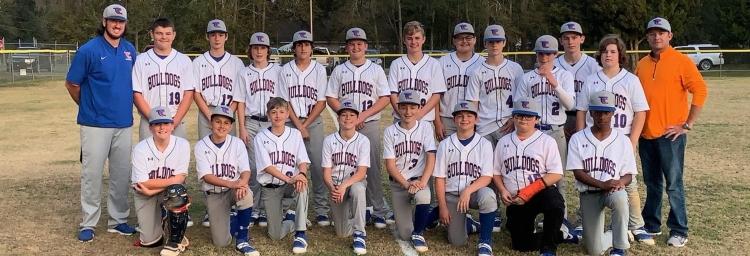 TCMS 2020 Baseball team