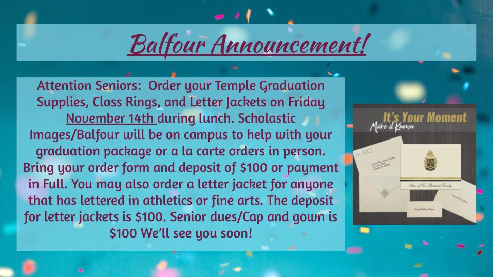 Balfour Senior Info