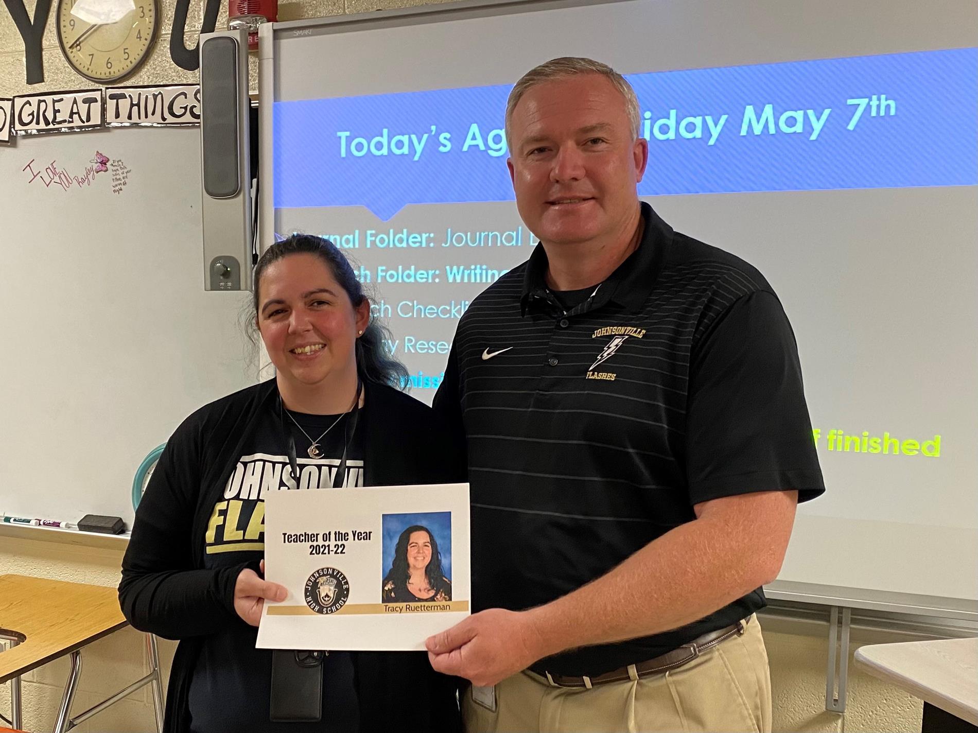 Ruetterman Teacher of the Year