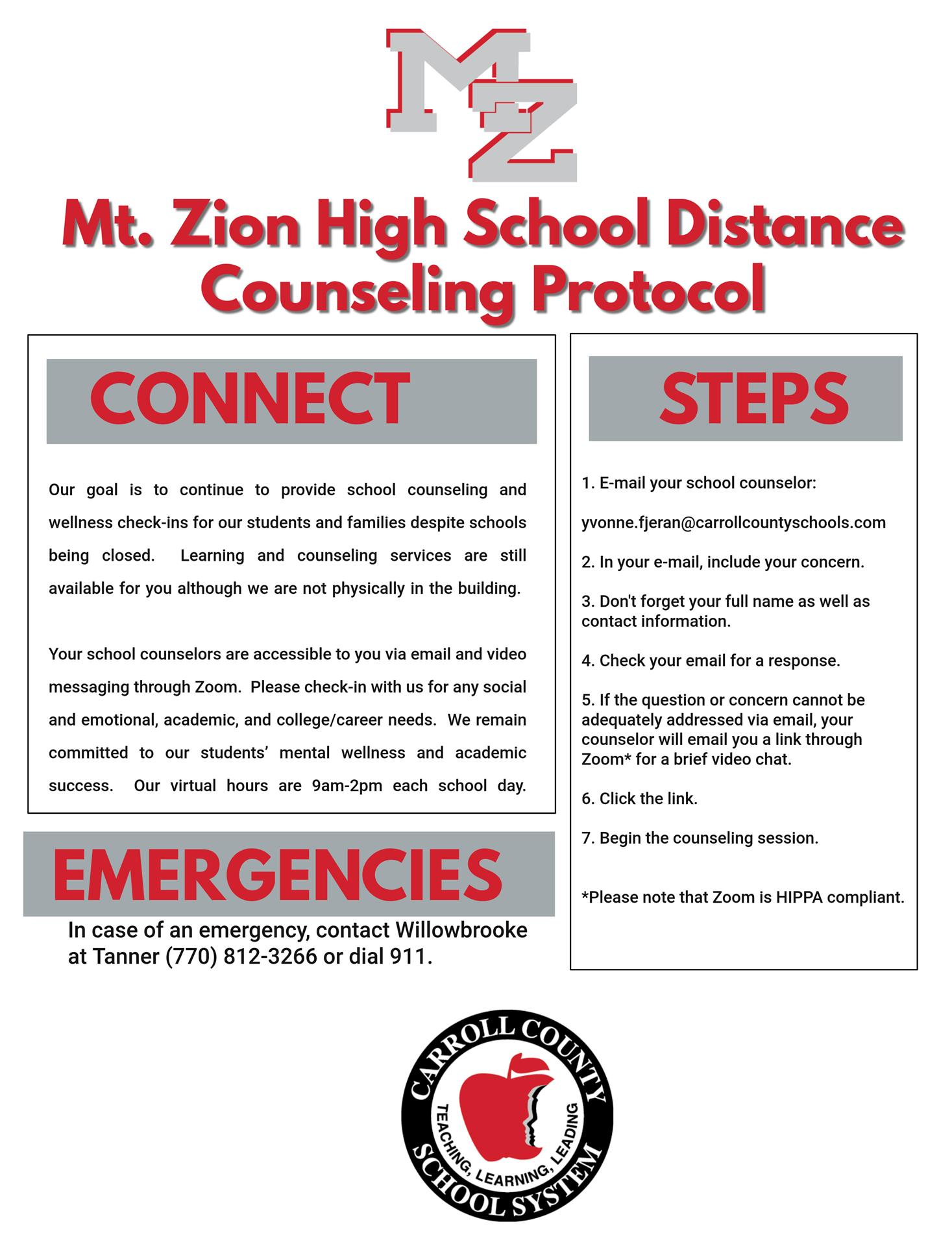 Distance Counseling Protocol