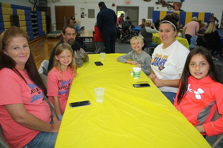 Elementary Students enjoying Breakfast with family