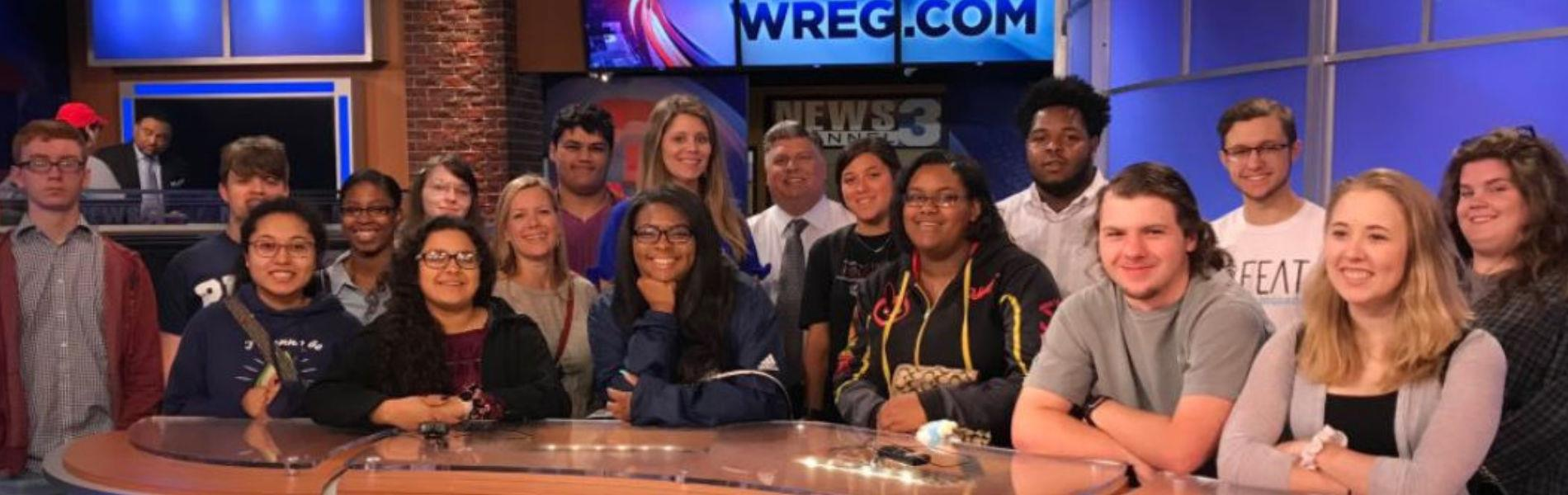 DMT Students Visit WREG Set