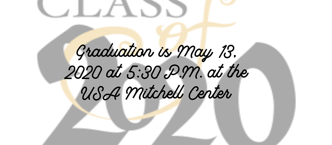 Graduation is May 13