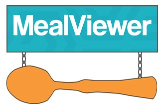 Meal Viewer text with wooden spoon