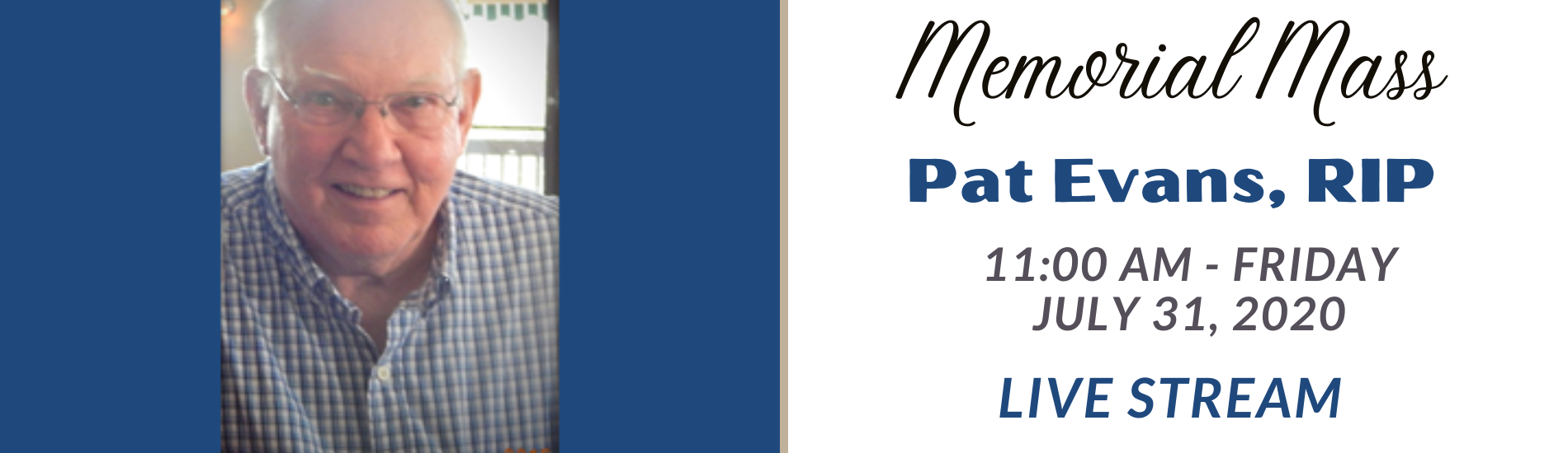 Pat Evans Memorial Page