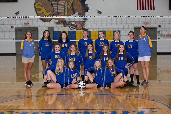 2019 Jr. High Volleyball Team