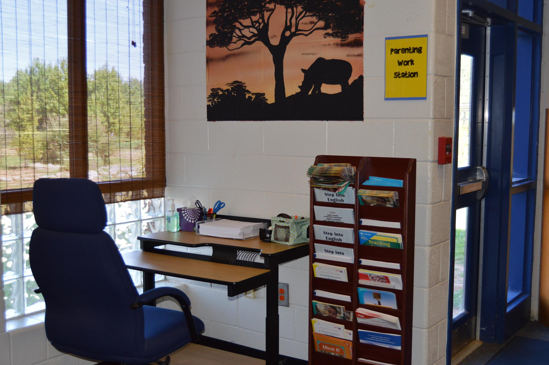 Parent Area Desk with Resources