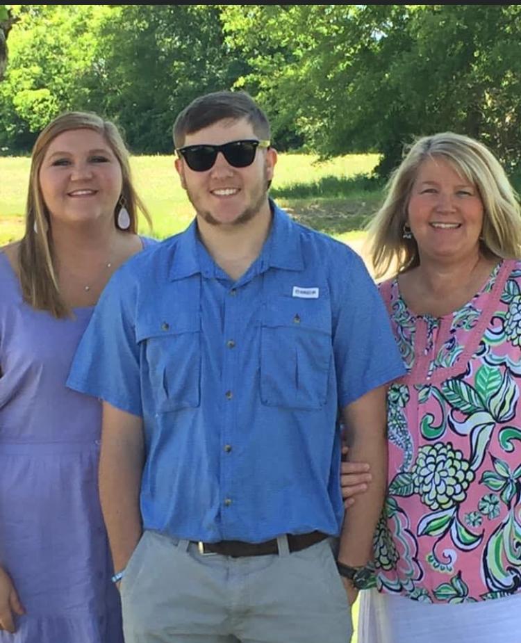 Cara Hussey with daughter Lauren and son Reid