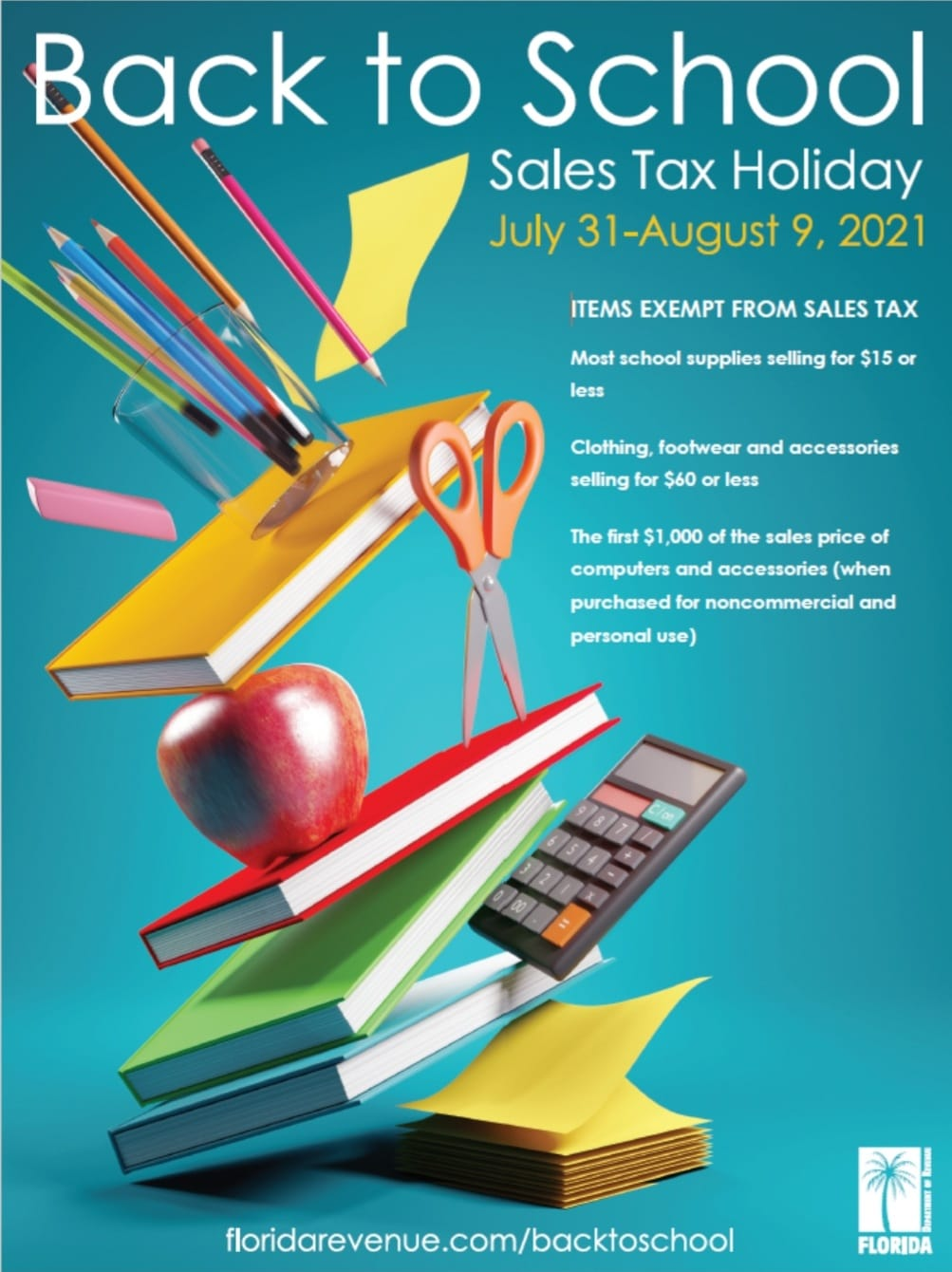 Back to School Tax Holiday Information