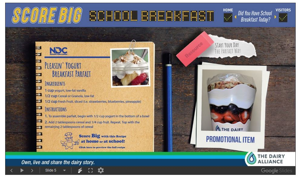 Score Big School Breakfast 5