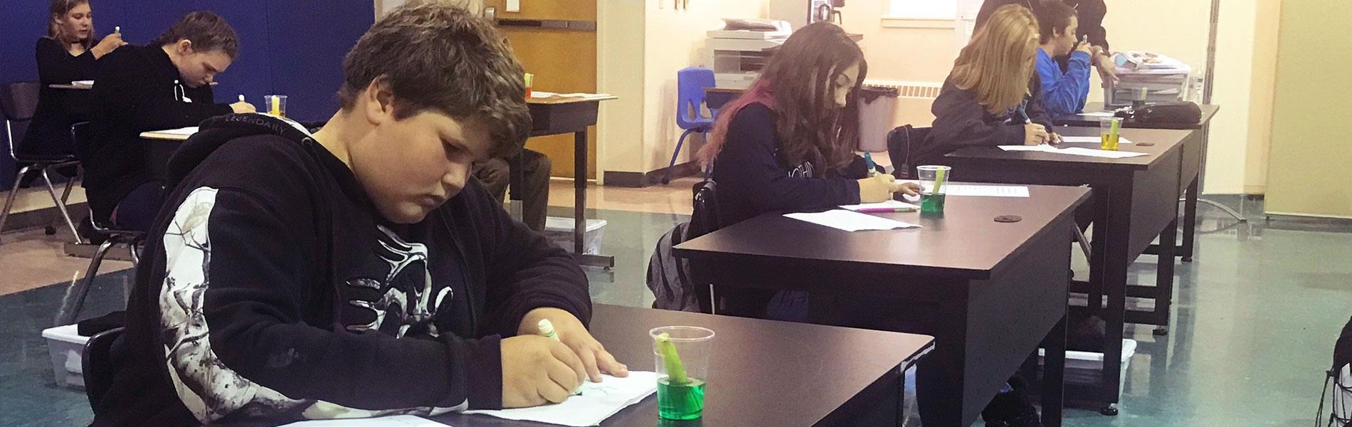 Stewartstown science class