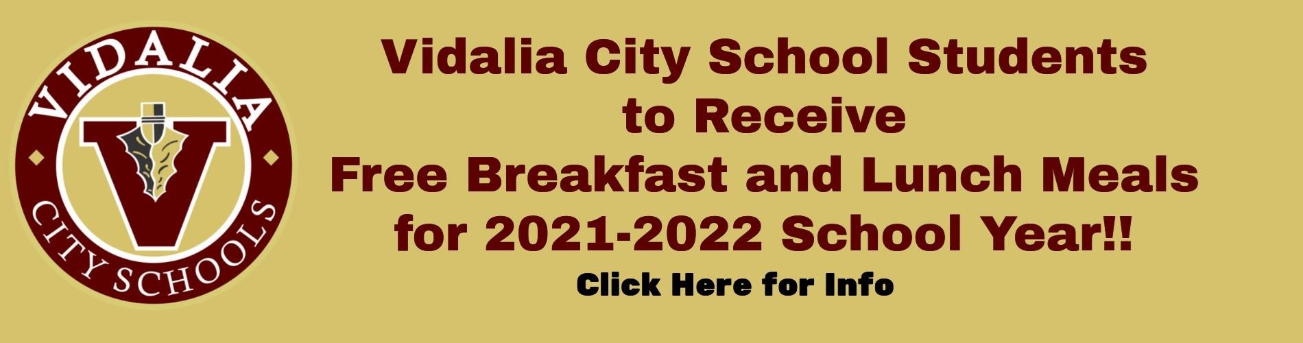 2021-22 Free Lunch Announcement