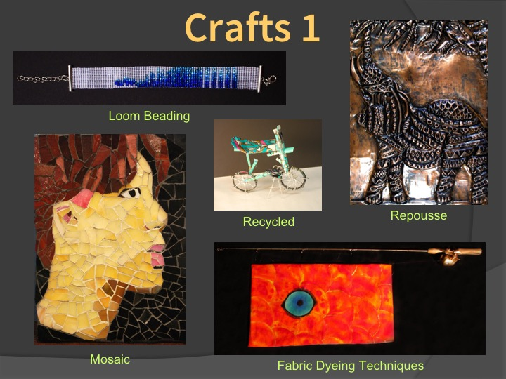 Examples of Crafts 1 student work