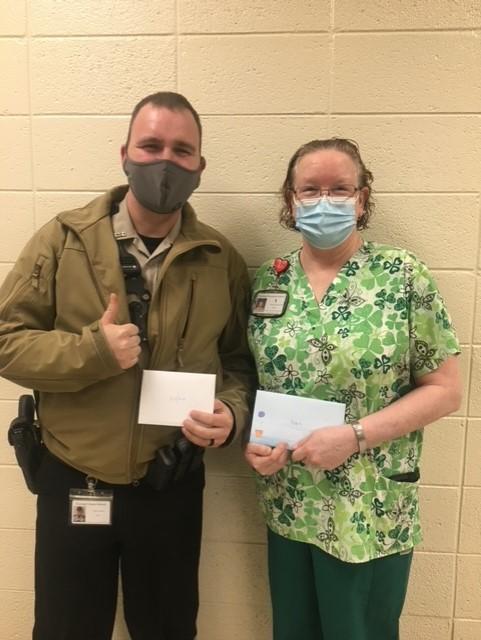 Officer Dillion and Nurse Robin