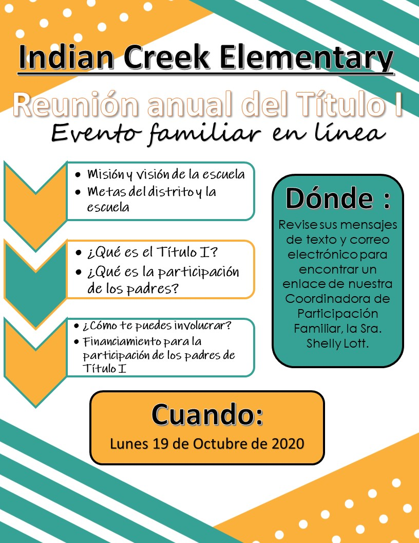 Spanish Annual Title I Parent Meeting 10-19
