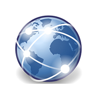 picture of globe to represent the internet
