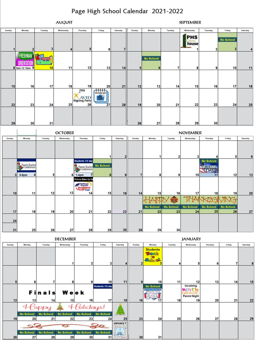 21 22 Calendar Aug to Jan