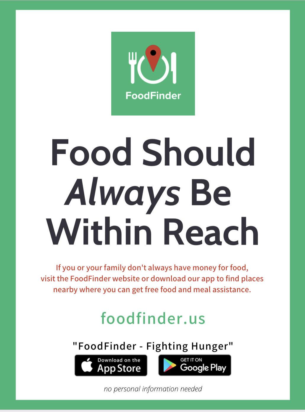 3 https://play.google.com/store/apps/details?id=org.foodfinderga.foodfinder&hl=en_US&gl=US