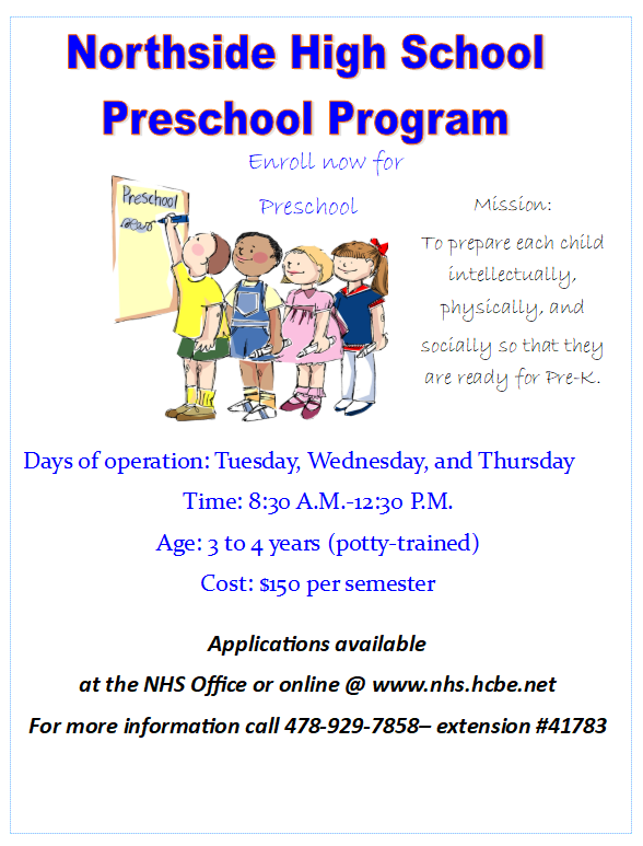 Eagle Preschool Flyer