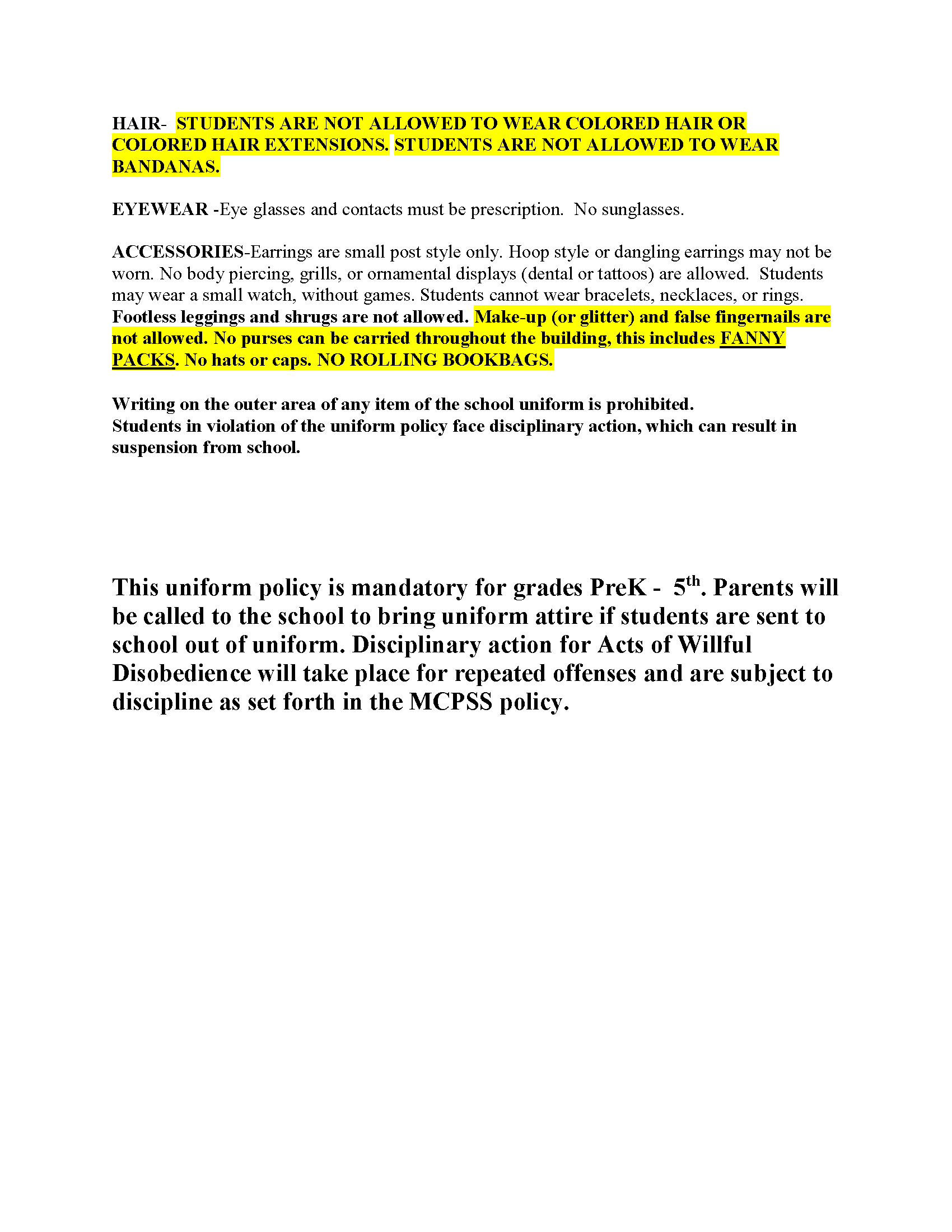 2020-2021 Uniform Policy 2
