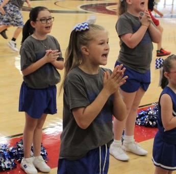 Cheerleader at Basketball game