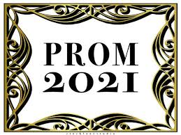 prom 2021 with a gold border