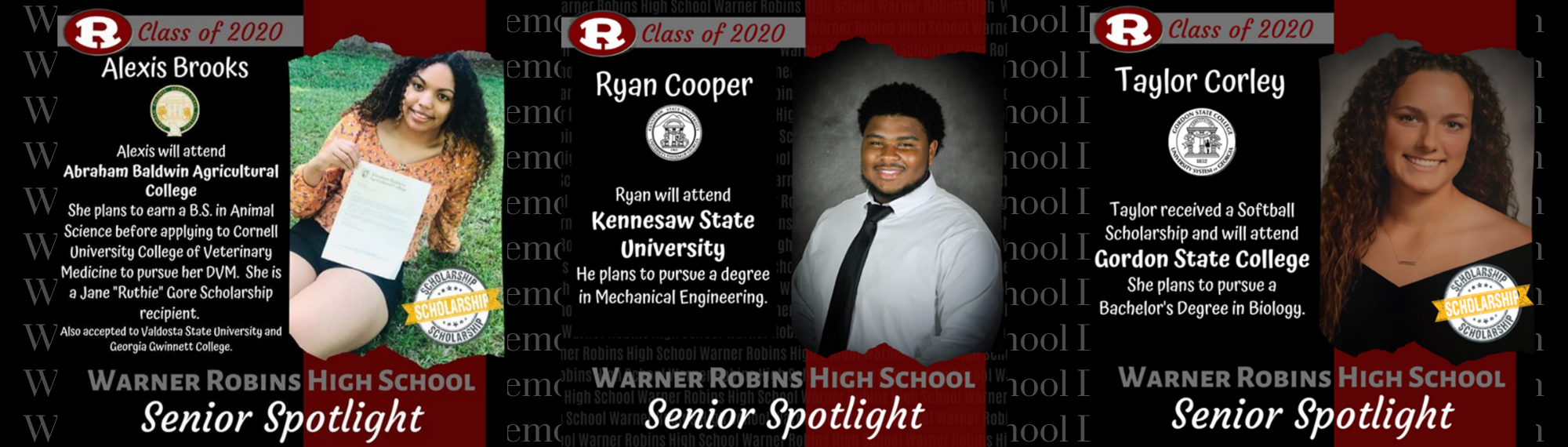 Brooks, Corley, and Cooper Senior Spotlight