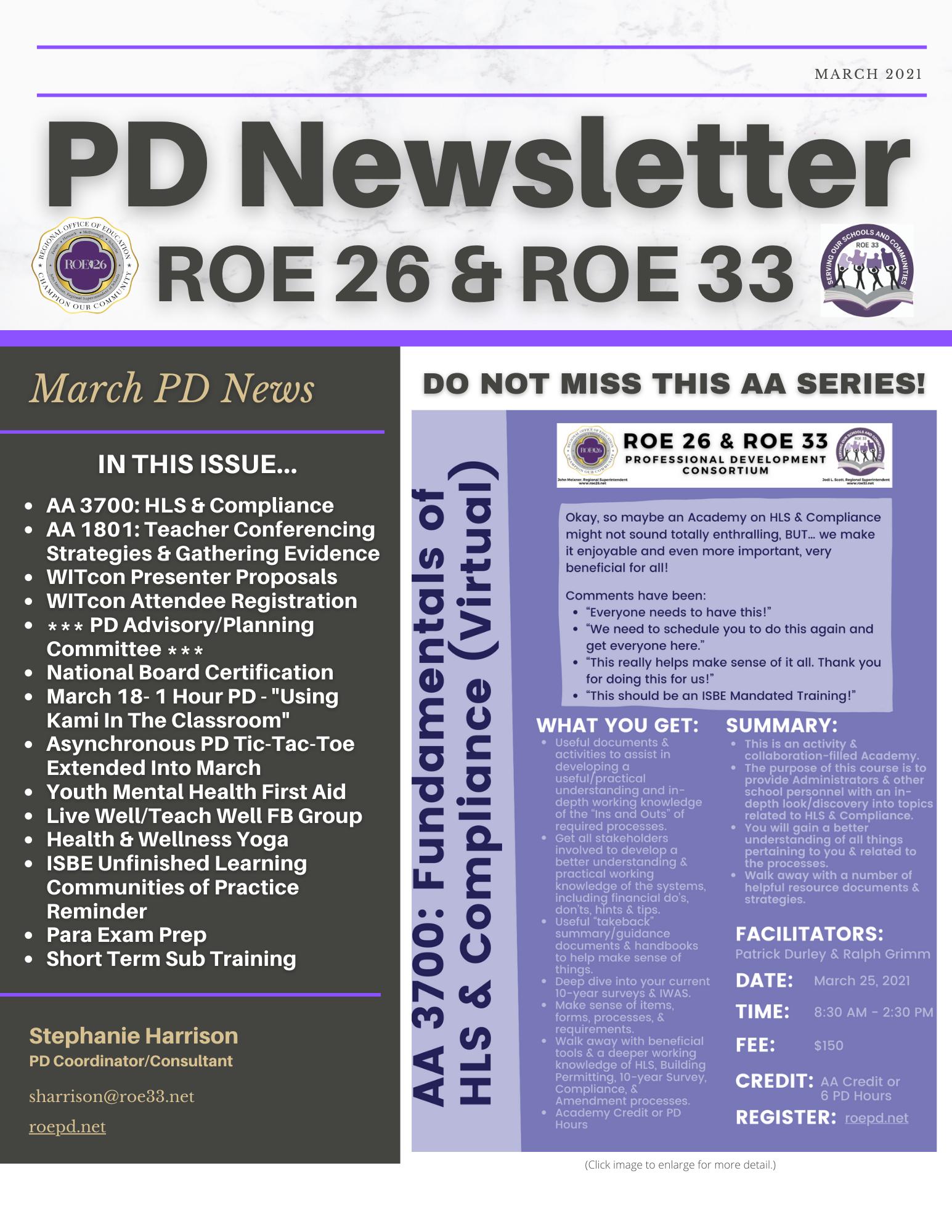 PD Newsletter