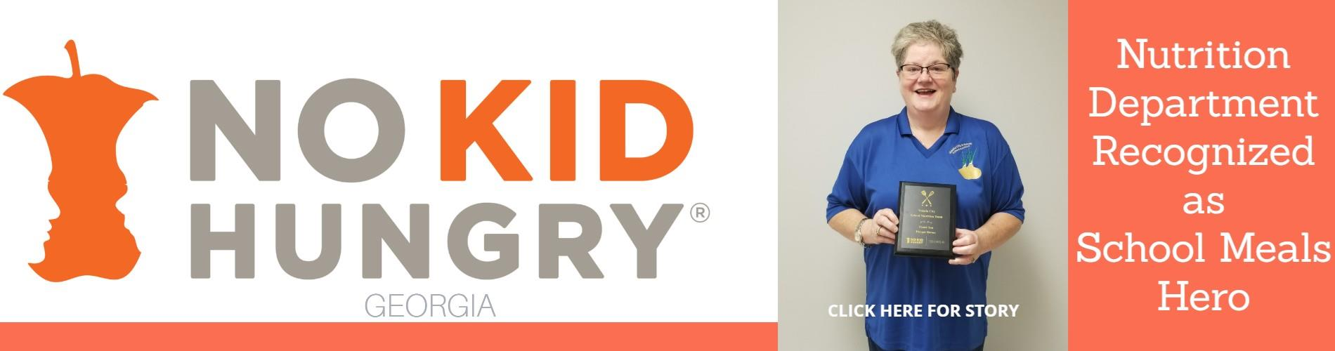 """Denise Parson Receiving """"No Kid Hungry"""" Plaque"""