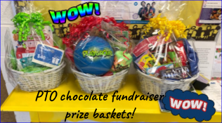 World's Finest Chocolate Fundraiser prize baskets