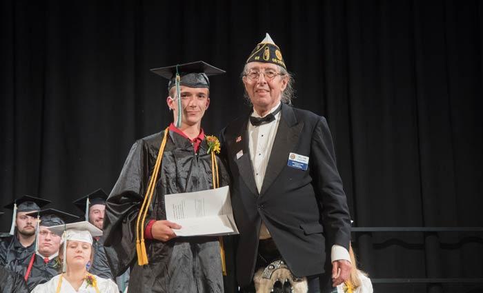 Student Receiving American Legion award