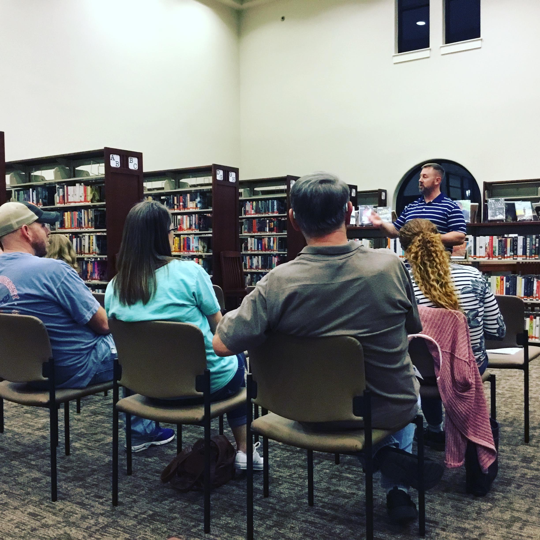 crowd at Jeremy Jones Author talk SFPL